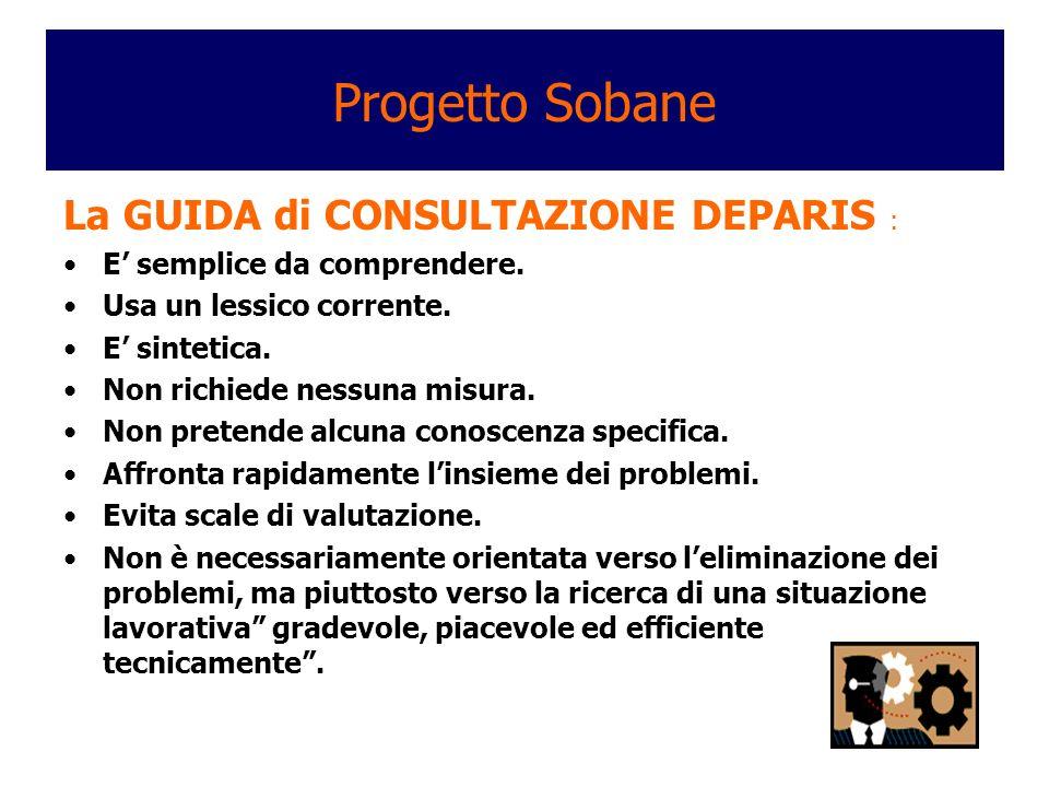 Progetto Sobane La GUIDA di CONSULTAZIONE DEPARIS :