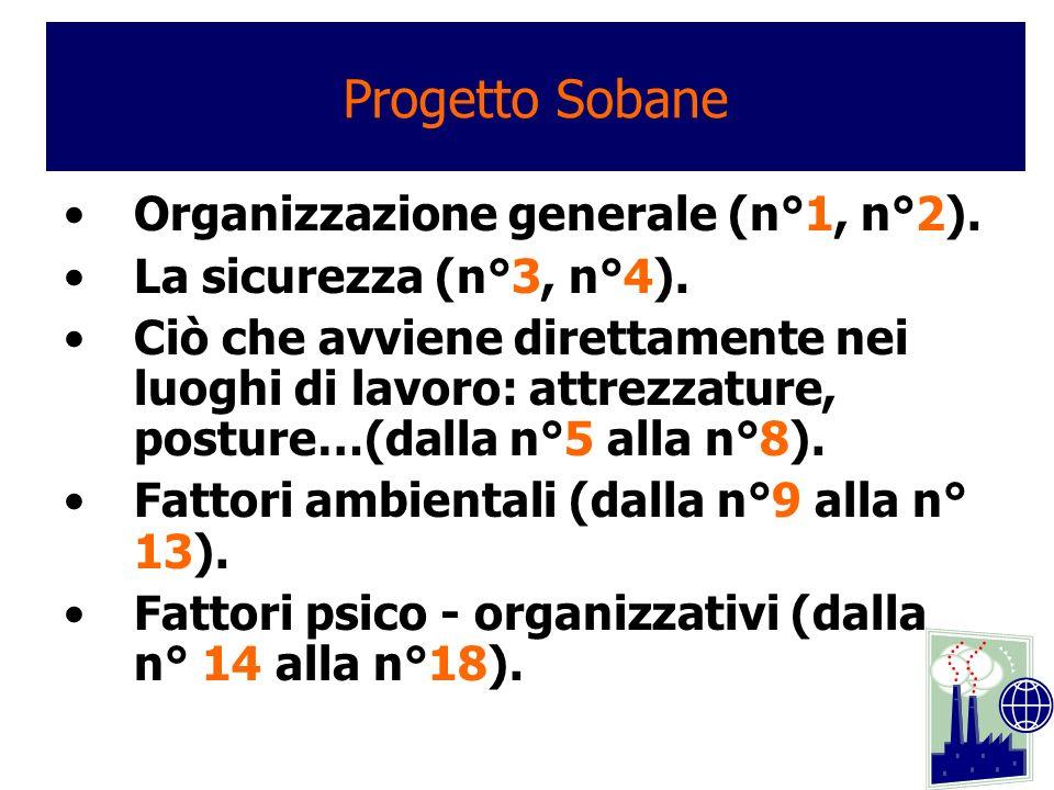 Progetto Sobane Organizzazione generale (n°1, n°2).