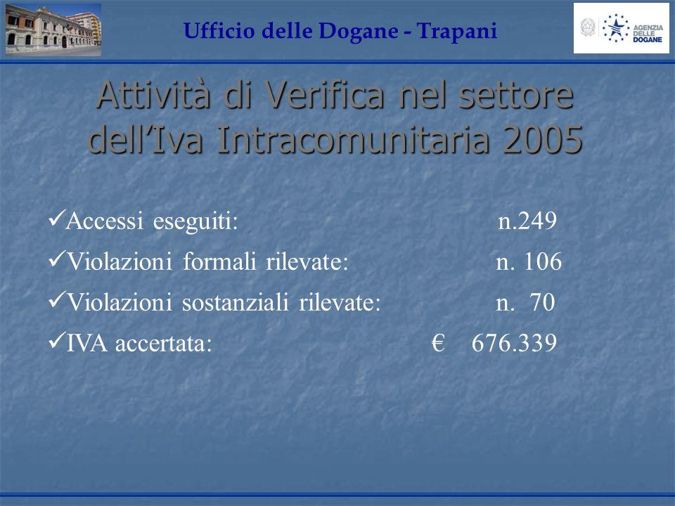 Attività di Verifica nel settore dell'Iva Intracomunitaria 2005