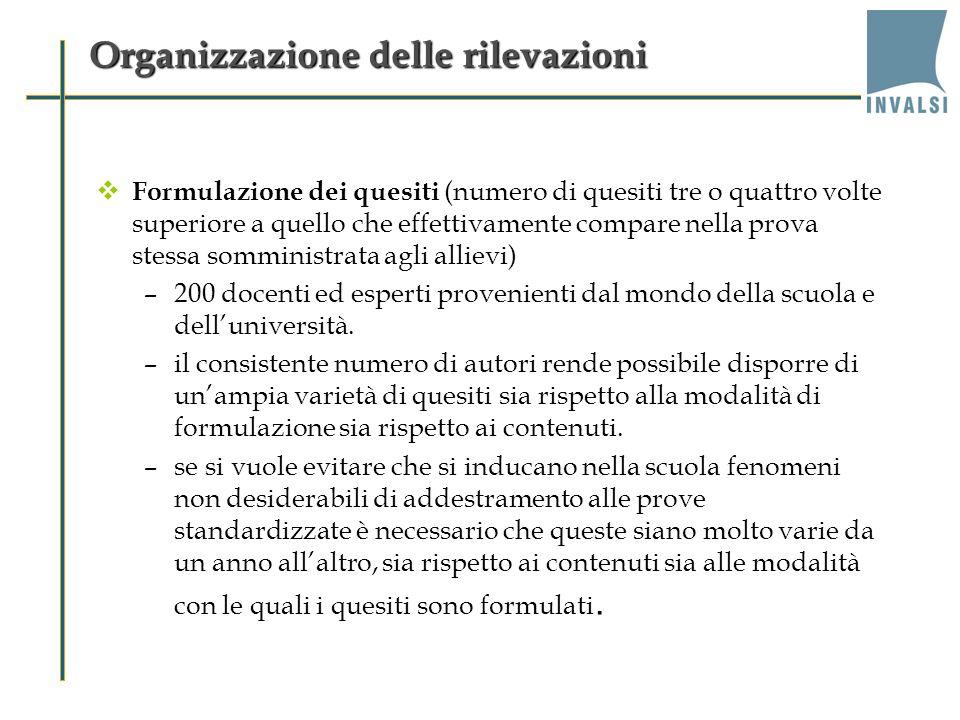 Organizzazione delle rilevazioni