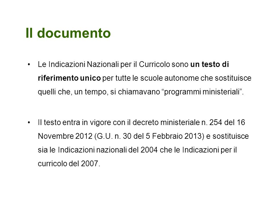 Il documento