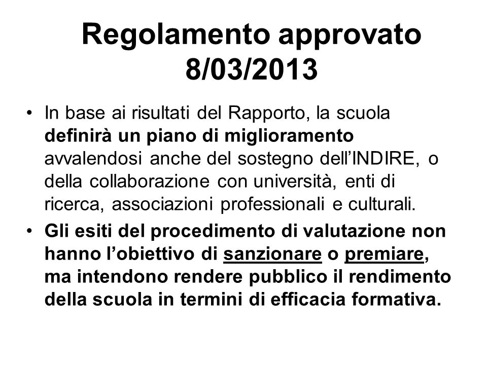 Regolamento approvato 8/03/2013
