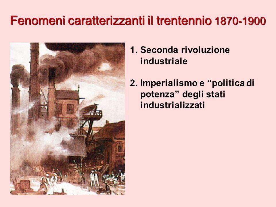 Fenomeni caratterizzanti il trentennio 1870-1900