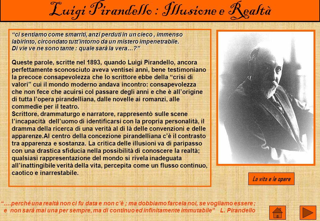 Luigi Pirandello : Illusione e Realtà