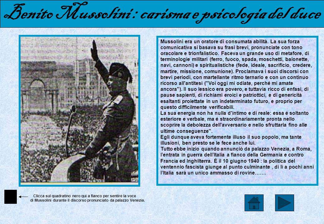 Benito Mussolini : carisma e psicologia del duce