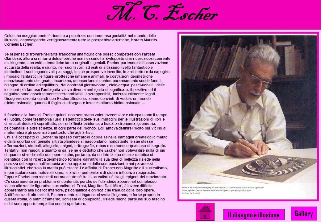 M.C. Escher Gallery Il disegno è illusione