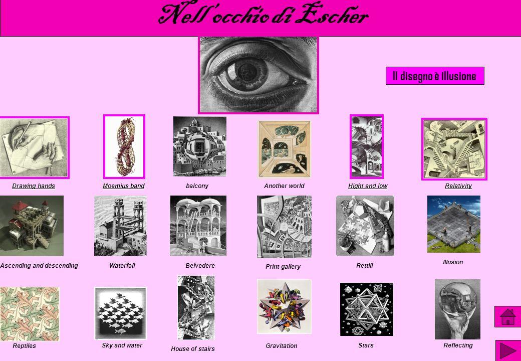Nell'occhio di Escher Il disegno è illusione Drawing hands