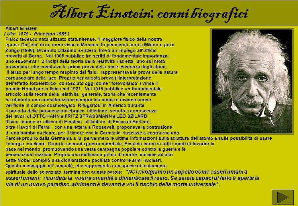 Albert Einstein: cenni biografici