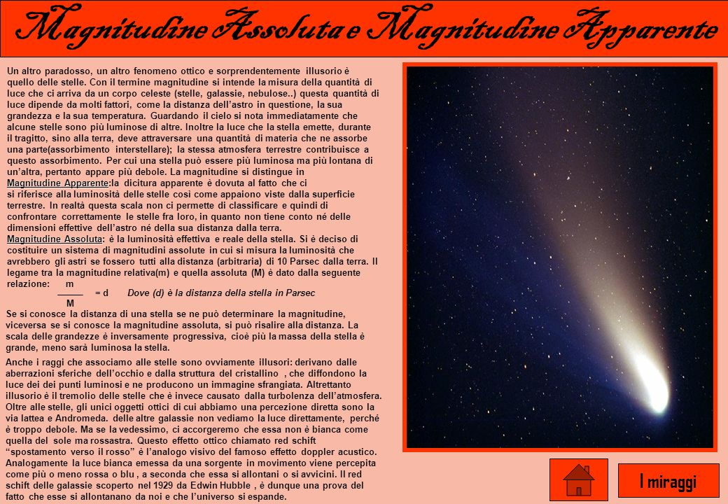 Magnitudine Assoluta e Magnitudine Apparente