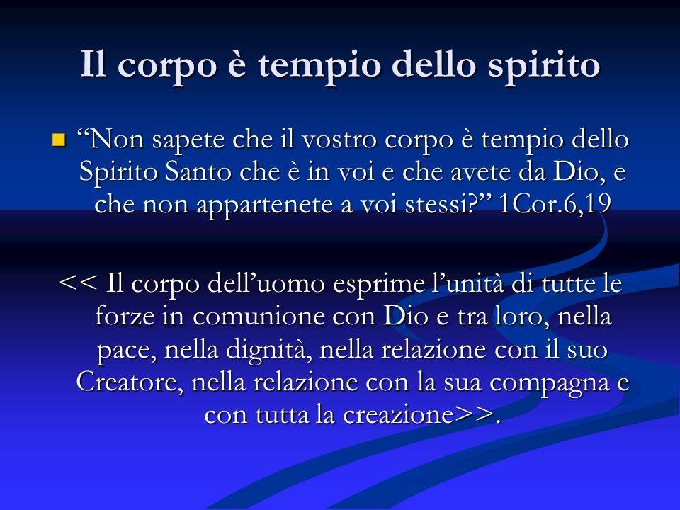 Il corpo è tempio dello spirito
