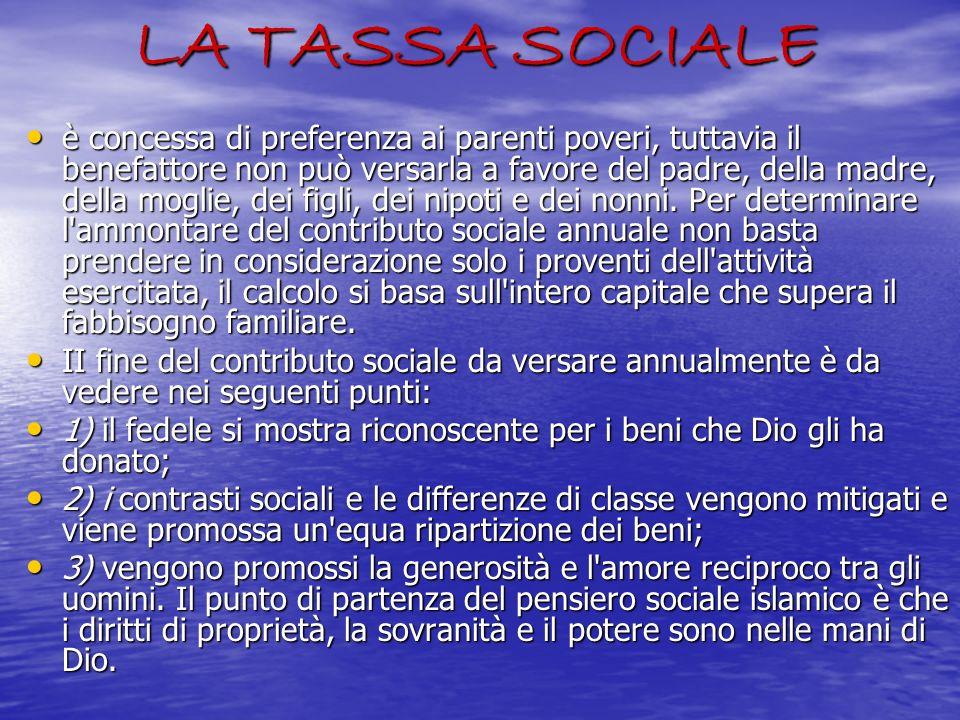 LA TASSA SOCIALE