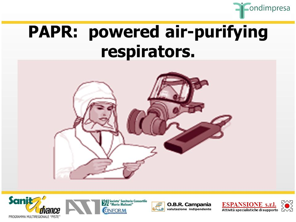 PAPR: powered air-purifying respirators.