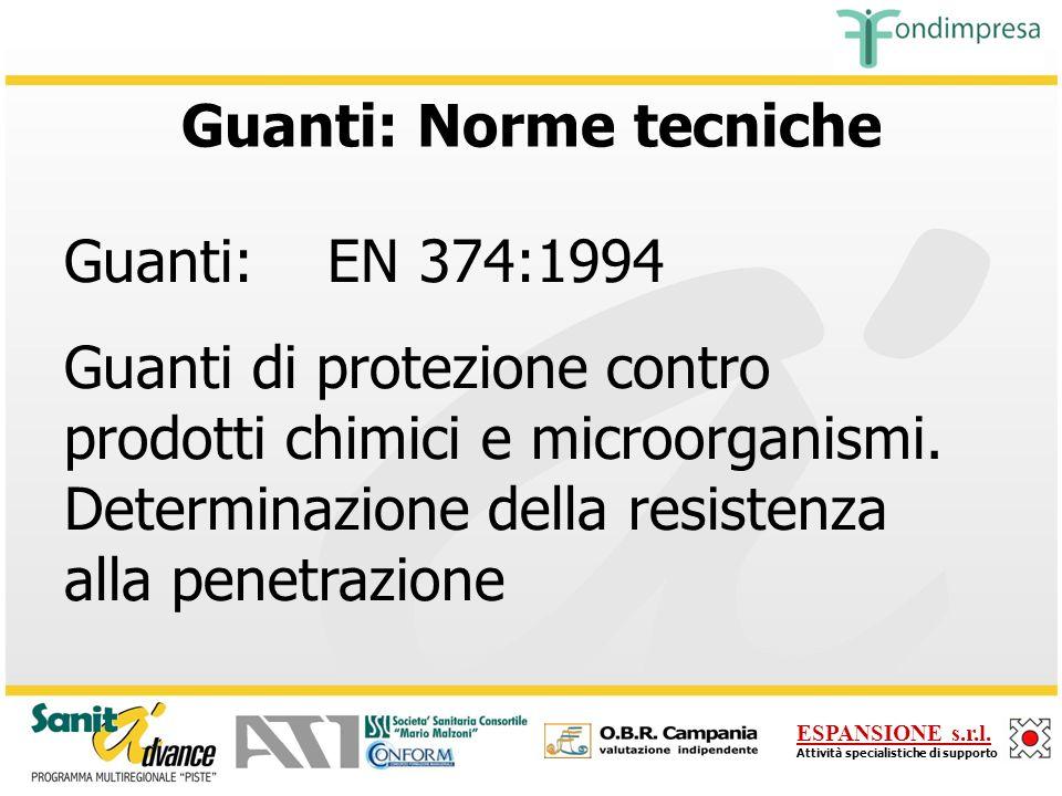 Guanti: Norme tecniche
