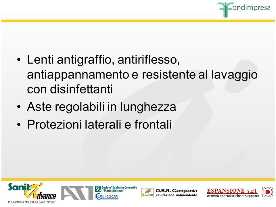 Lenti antigraffio, antiriflesso, antiappannamento e resistente al lavaggio con disinfettanti