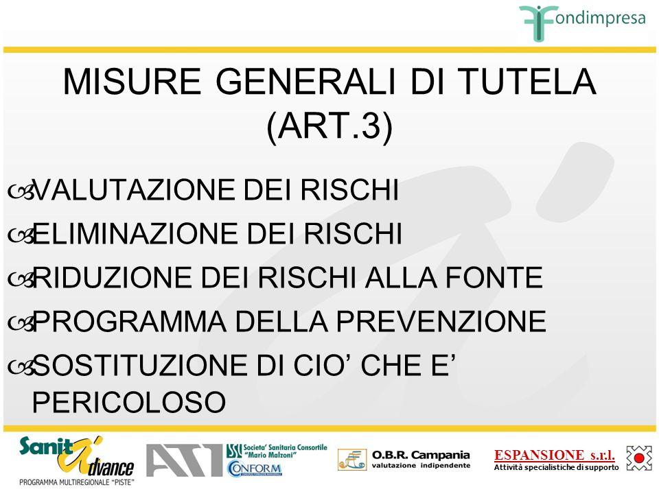 MISURE GENERALI DI TUTELA (ART.3)