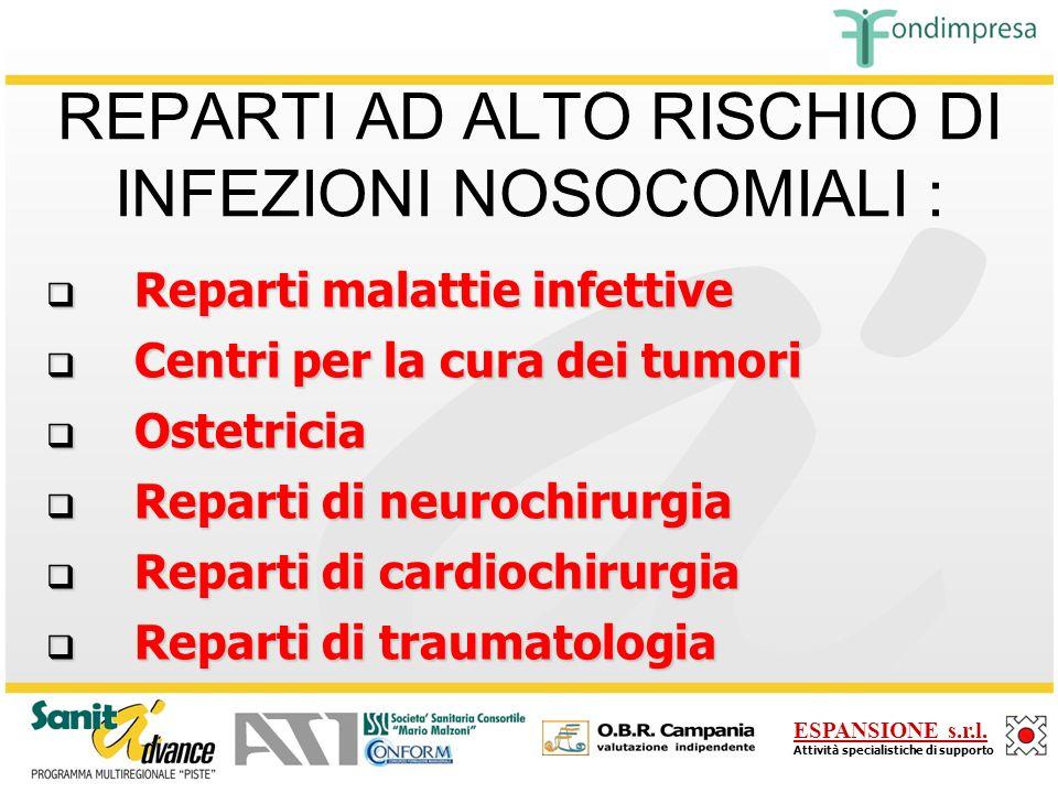 REPARTI AD ALTO RISCHIO DI INFEZIONI NOSOCOMIALI :