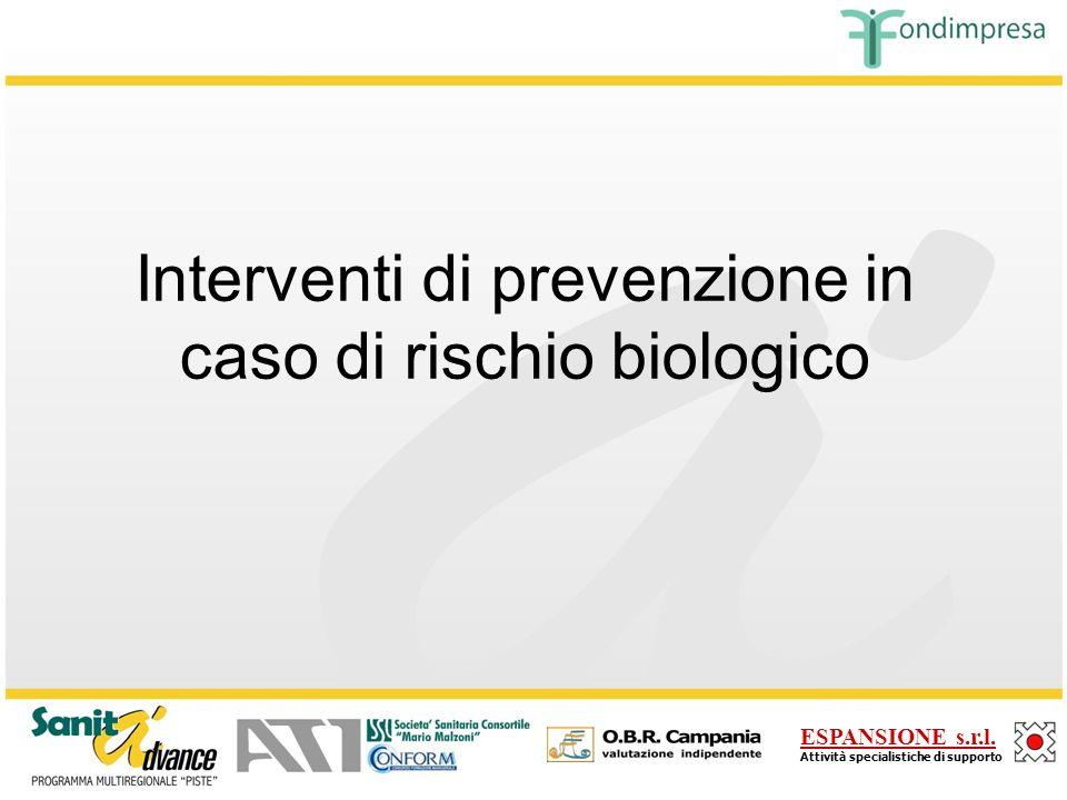 Interventi di prevenzione in caso di rischio biologico