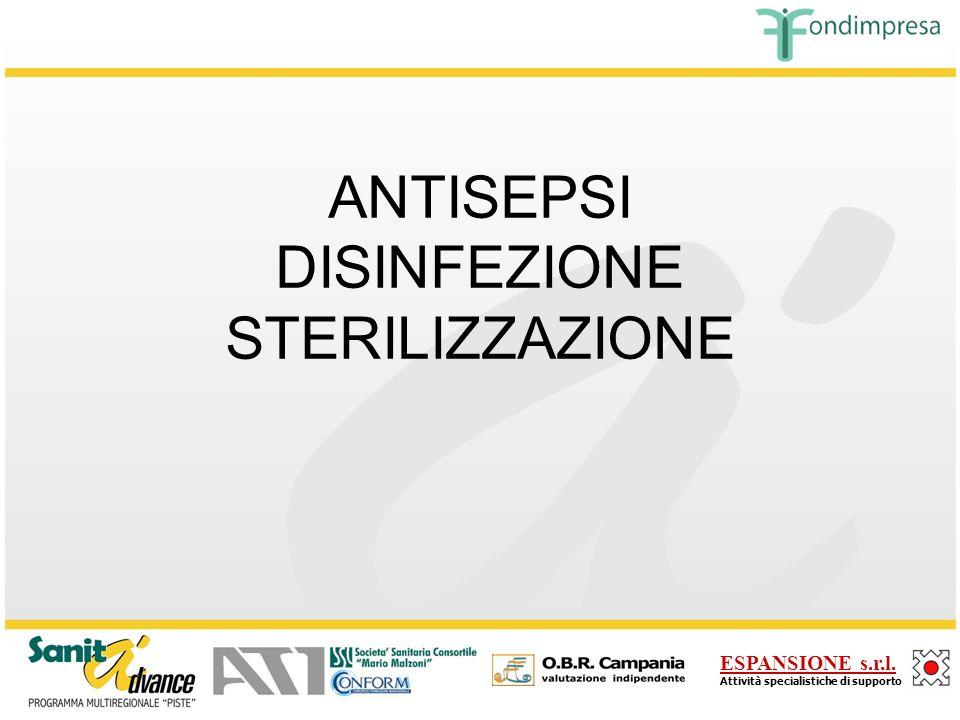 ANTISEPSI DISINFEZIONE STERILIZZAZIONE