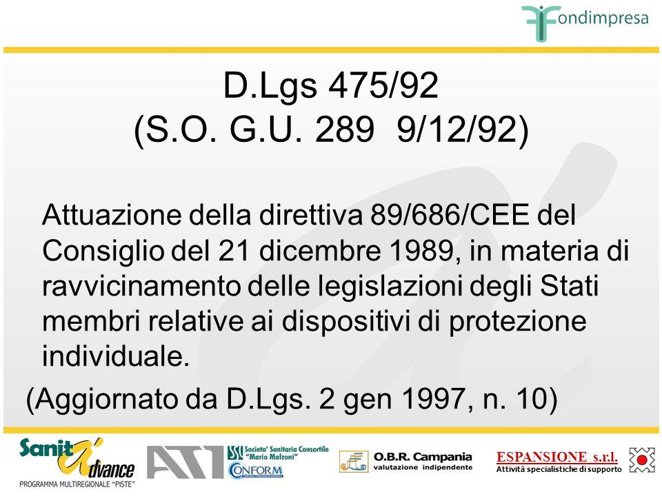 D.Lgs 475/92 (S.O. G.U. 289 9/12/92)