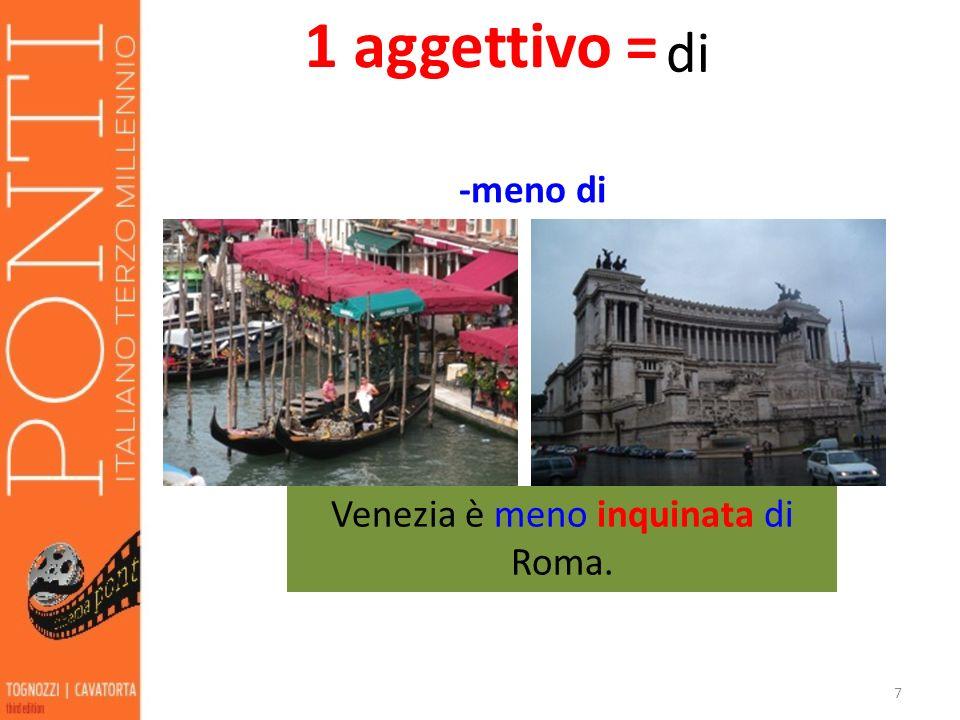 Venezia è meno inquinata di Roma.