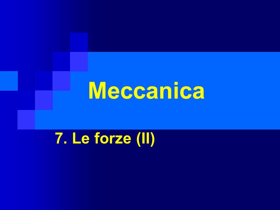 Meccanica 7. Le forze (II)
