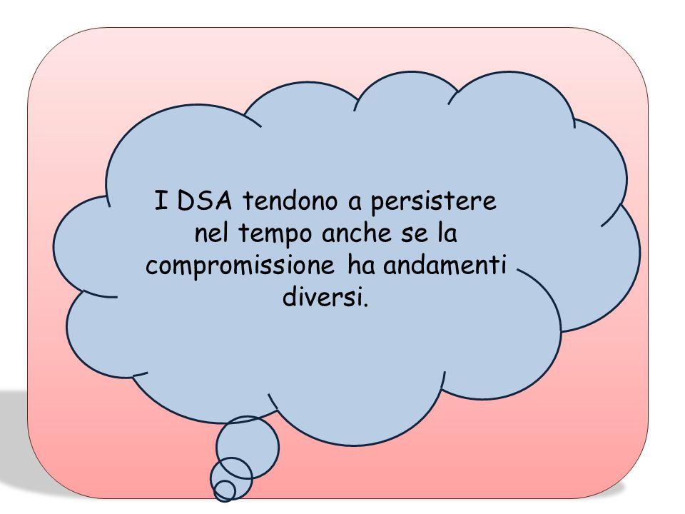 I DSA tendono a persistere nel tempo anche se la compromissione ha andamenti diversi.