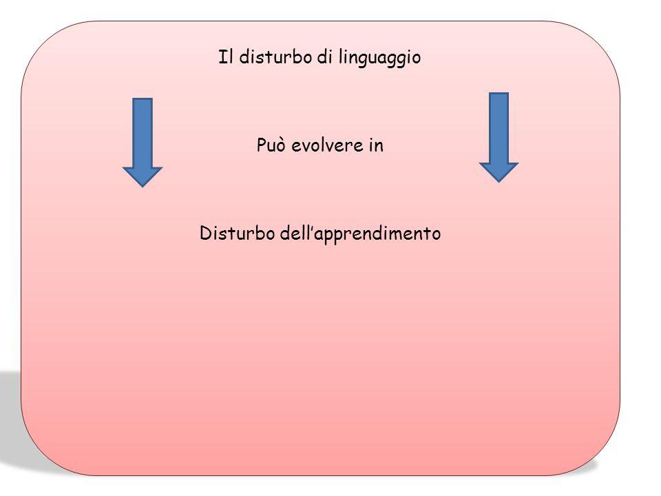 Il disturbo di linguaggio