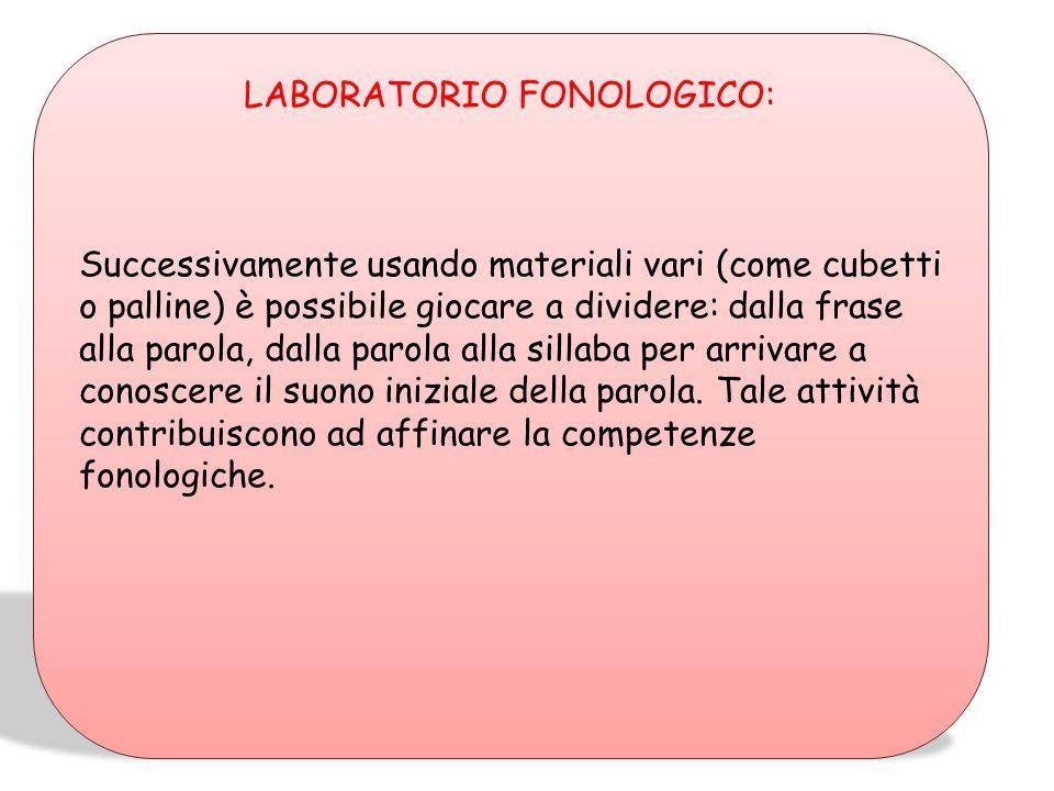 LABORATORIO FONOLOGICO: