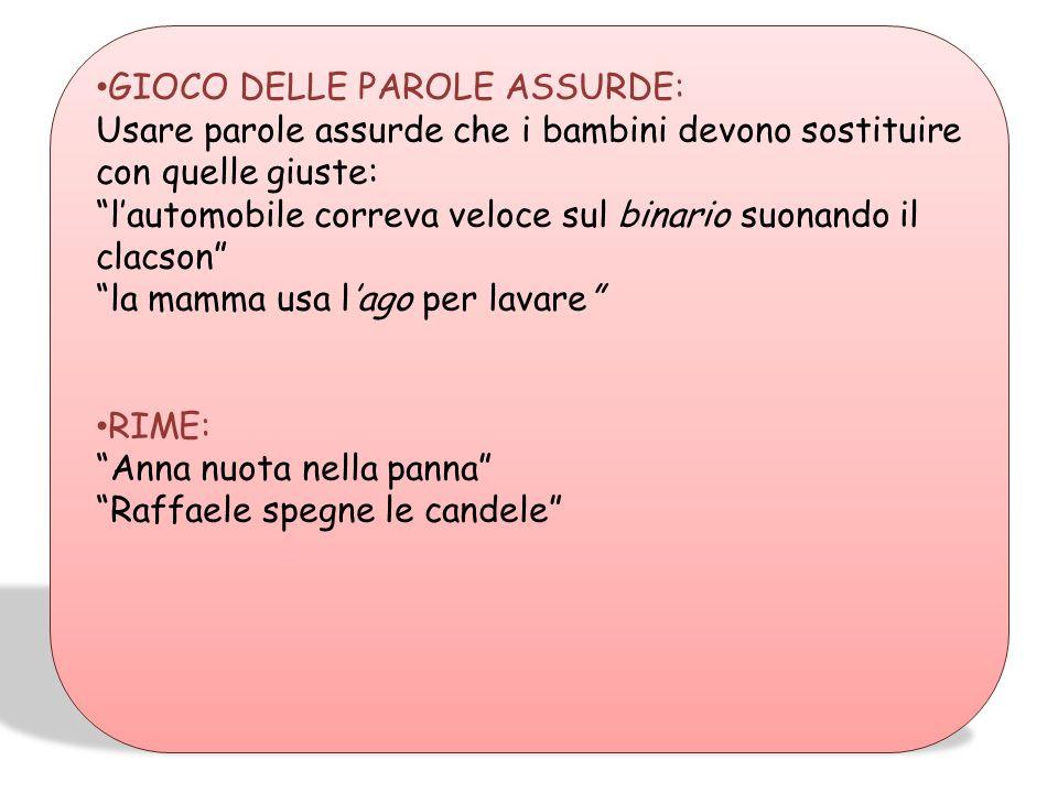 GIOCO DELLE PAROLE ASSURDE: