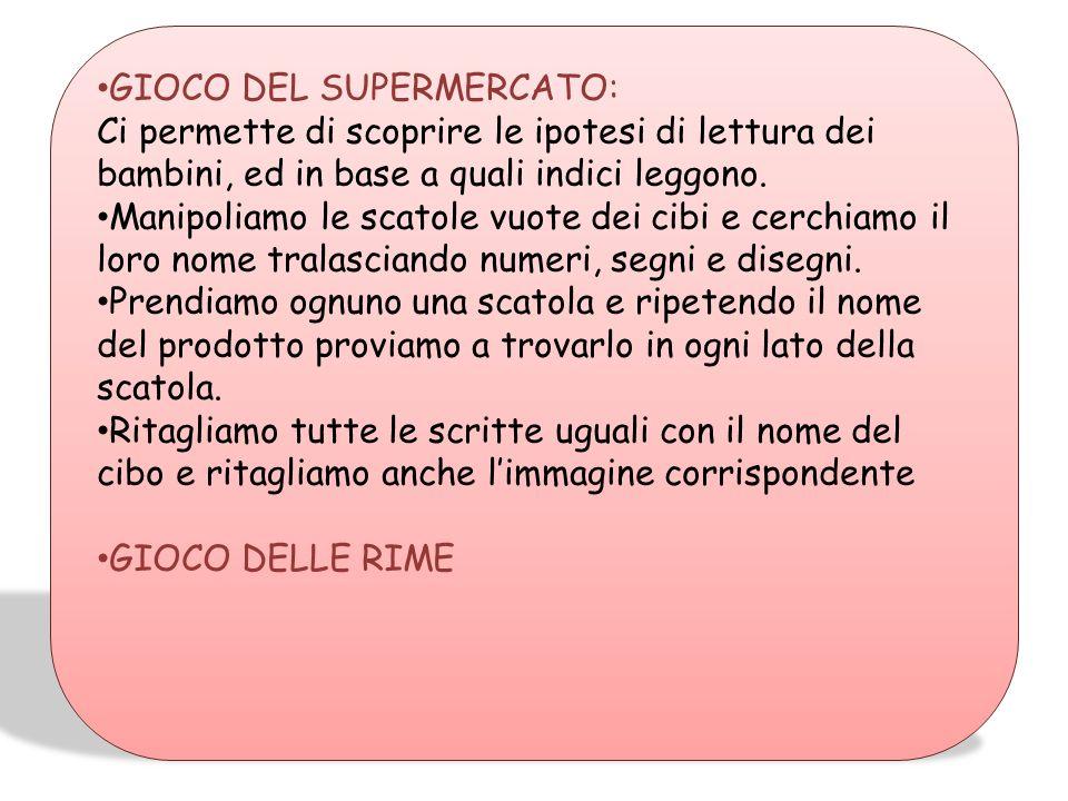 GIOCO DEL SUPERMERCATO: