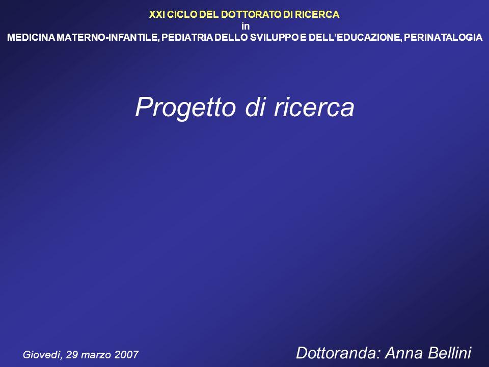 XXI CICLO DEL DOTTORATO DI RICERCA