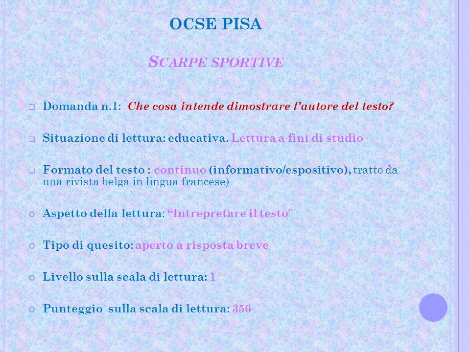 OCSE PISA Scarpe sportive