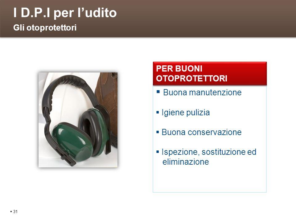 I D.P.I per l'udito Gli otoprotettori