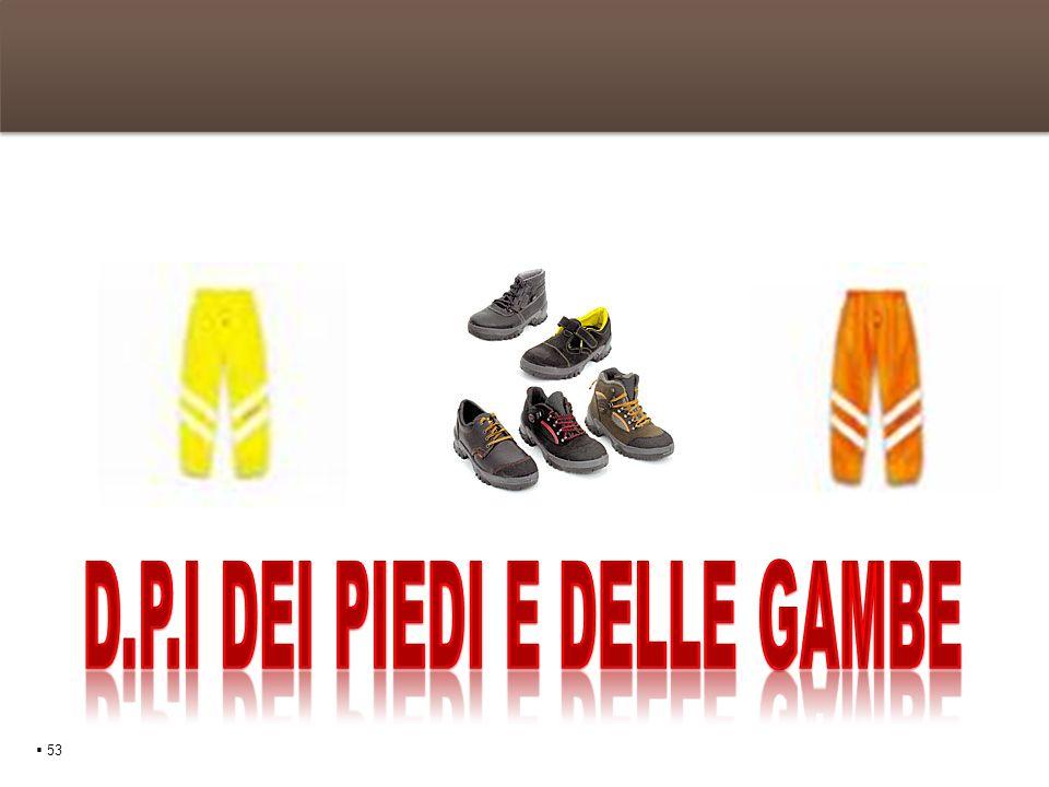 D.P.I dei piedi e delle gambe