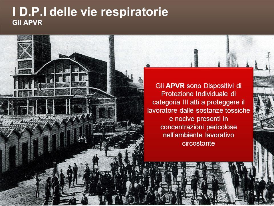 I D.P.I delle vie respiratorie Gli APVR
