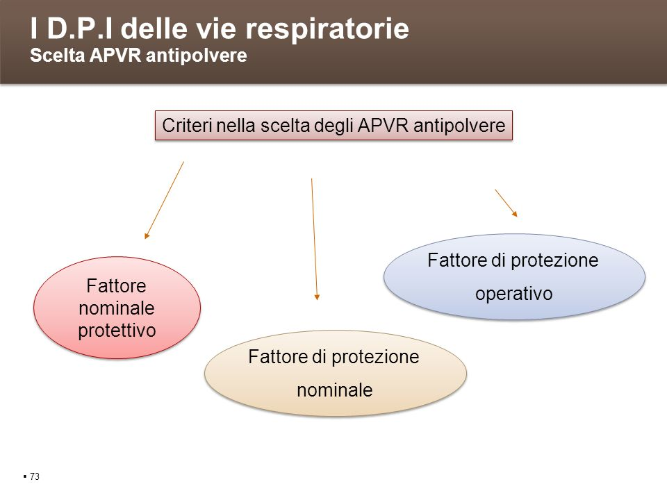 I D.P.I delle vie respiratorie Scelta APVR antipolvere