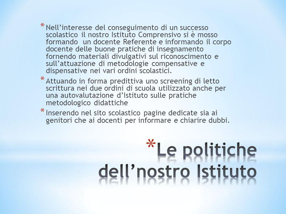 Le politiche dell'nostro Istituto