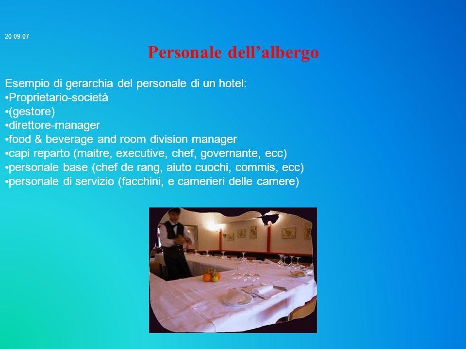 Personale dell'albergo