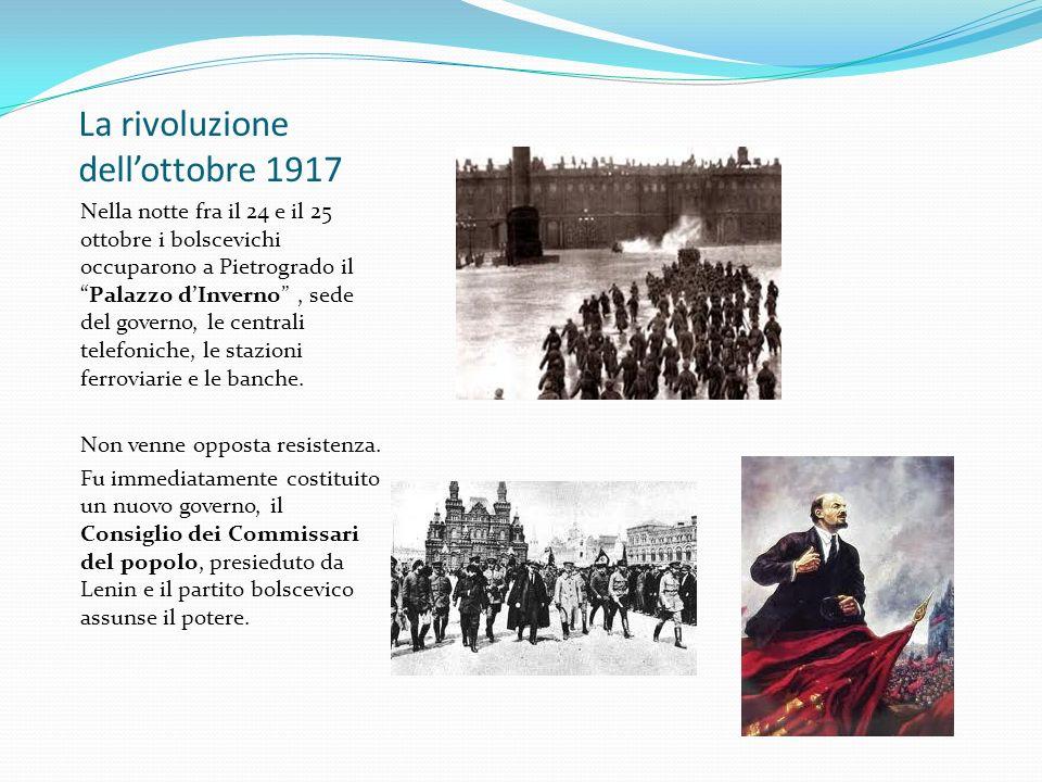 La rivoluzione dell'ottobre 1917