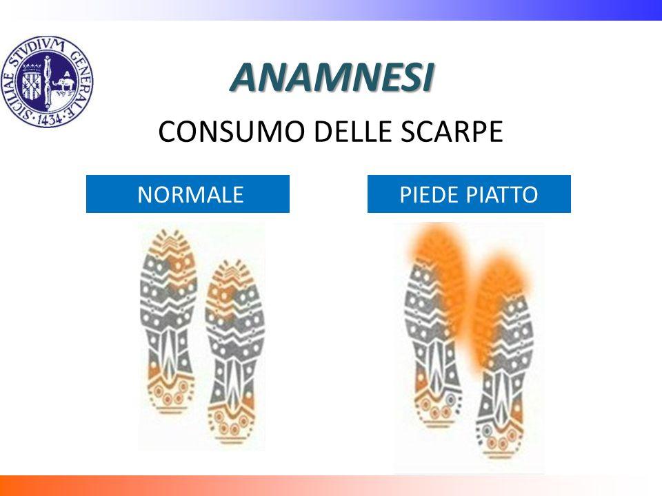 ANAMNESI CONSUMO DELLE SCARPE NORMALE PIEDE PIATTO