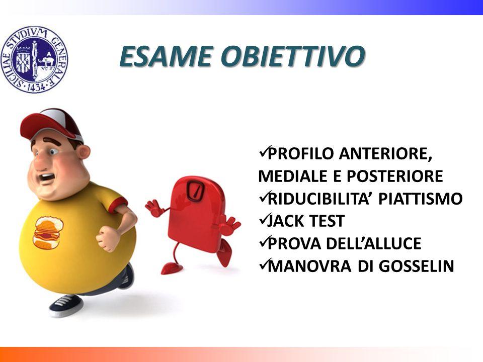 ESAME OBIETTIVO PROFILO ANTERIORE, MEDIALE E POSTERIORE