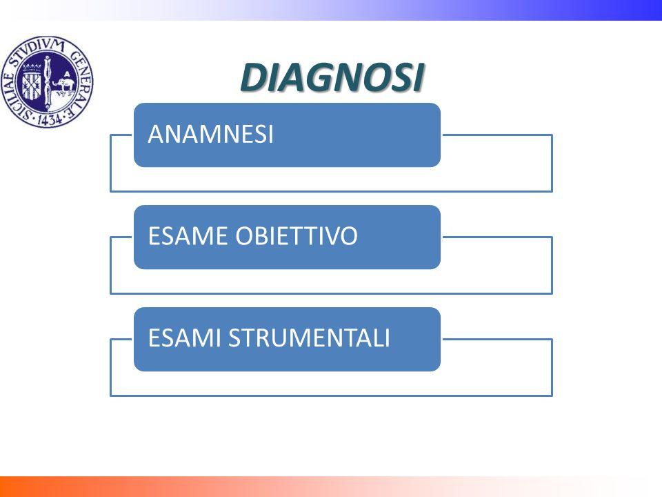 DIAGNOSI ANAMNESI ESAME OBIETTIVO ESAMI STRUMENTALI