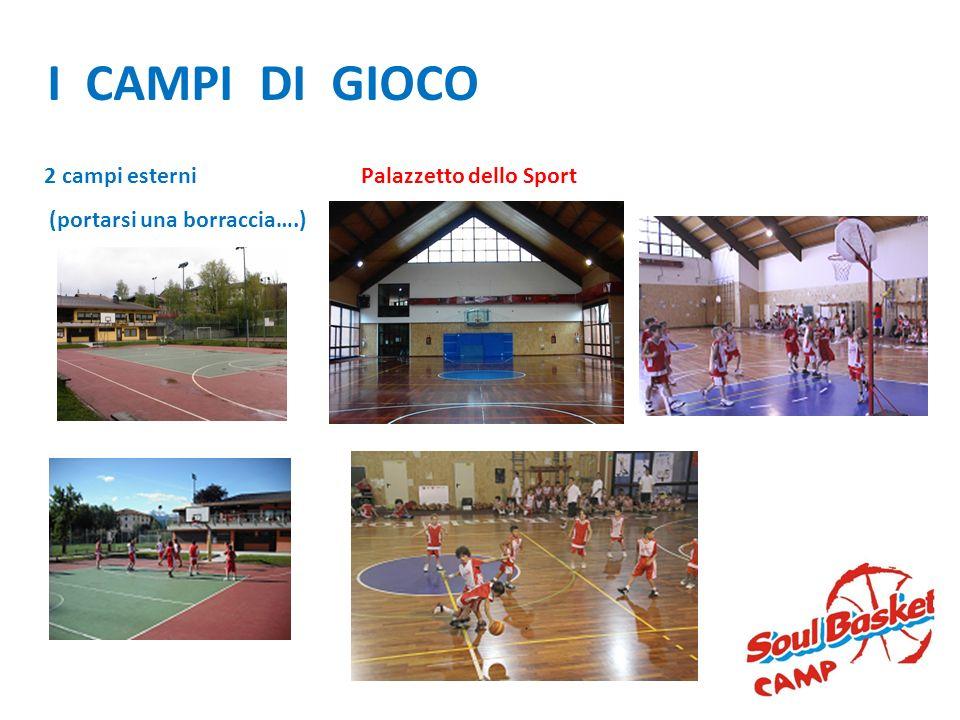 I CAMPI DI GIOCO 2 campi esterni (portarsi una borraccia….)