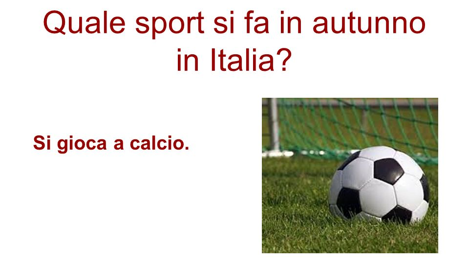 Quale sport si fa in autunno in Italia