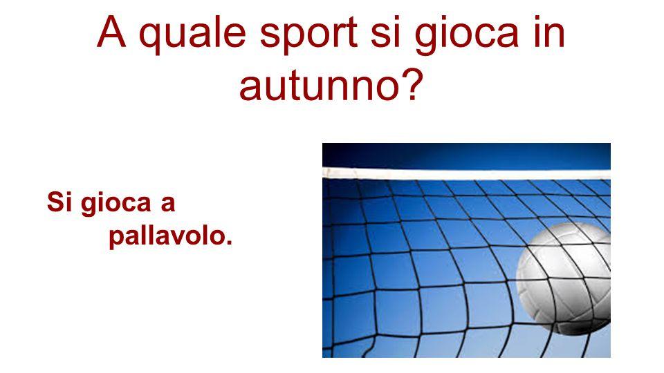 A quale sport si gioca in autunno