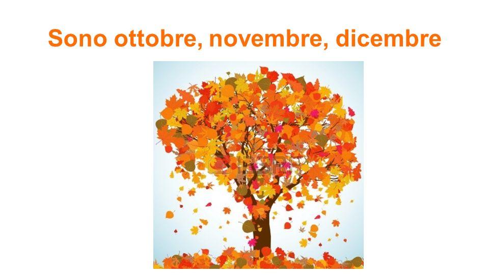 Sono ottobre, novembre, dicembre