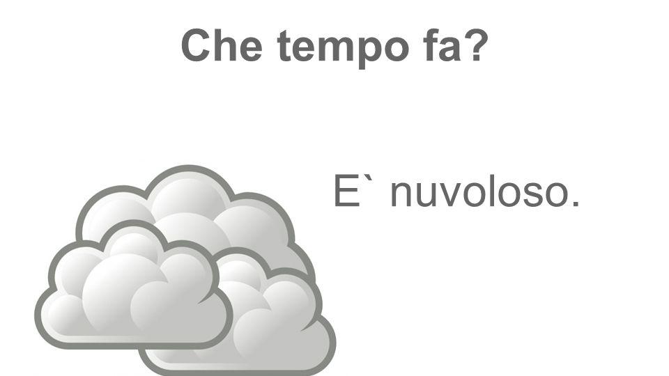 Che tempo fa E` nuvoloso.