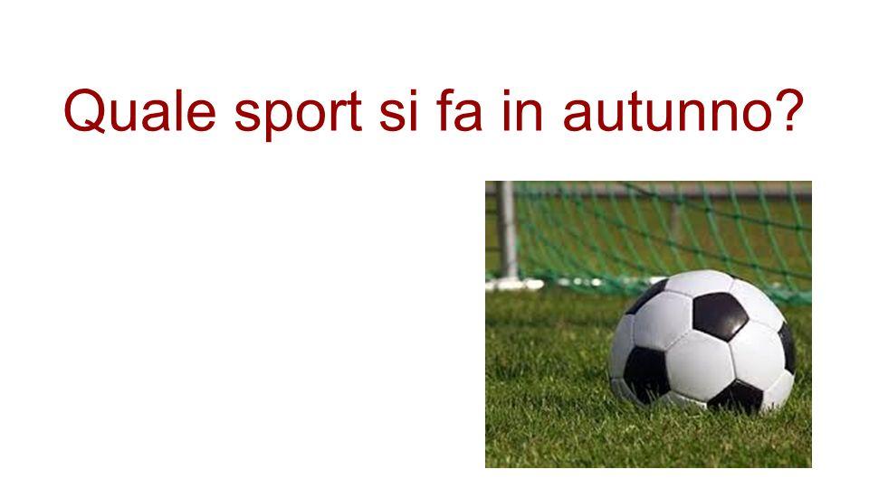 Quale sport si fa in autunno