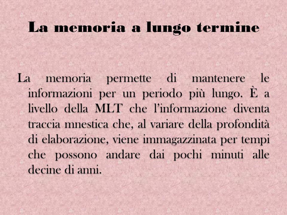 La memoria a lungo termine