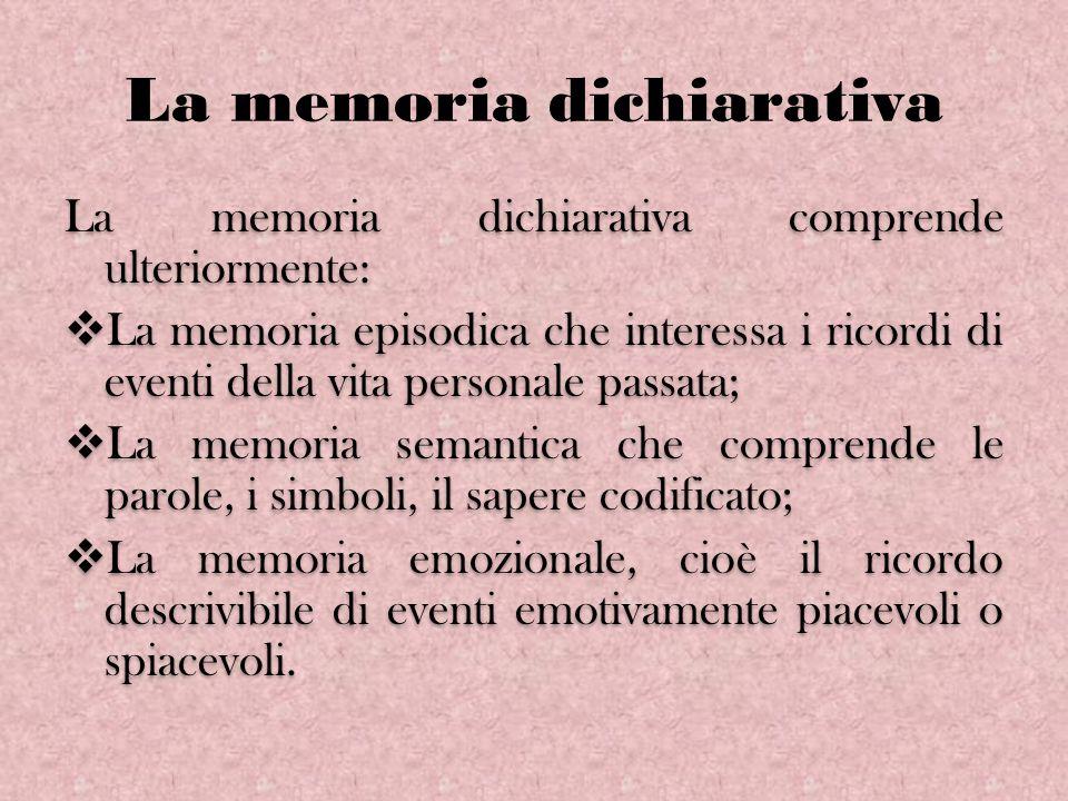 La memoria dichiarativa